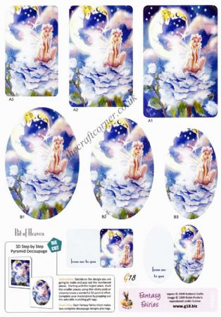Bit Of Heaven Fantasy Fairies Pyramid Die Cut 3d Decoupage Sheet